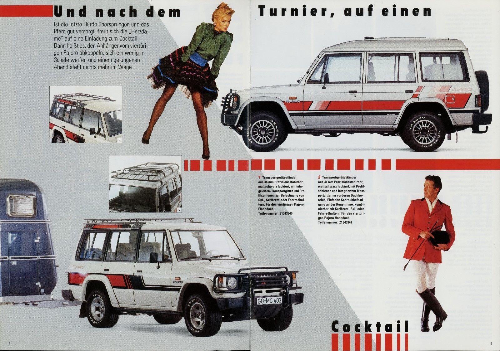 Mitsubishi Pajero Zubehör Prospekt 6/88 1988 Autoprospekt Broschüre ...