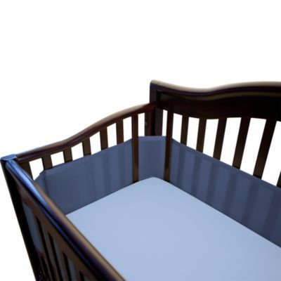 Breathablebaby Breathable Mesh Crib Liner In Navy Crib Liners Cribs Breathablebaby