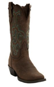 aa14cee3b4f Justin Ladies Sorrel Apache Brown Stampede Square Toe Boot | Shoes ...