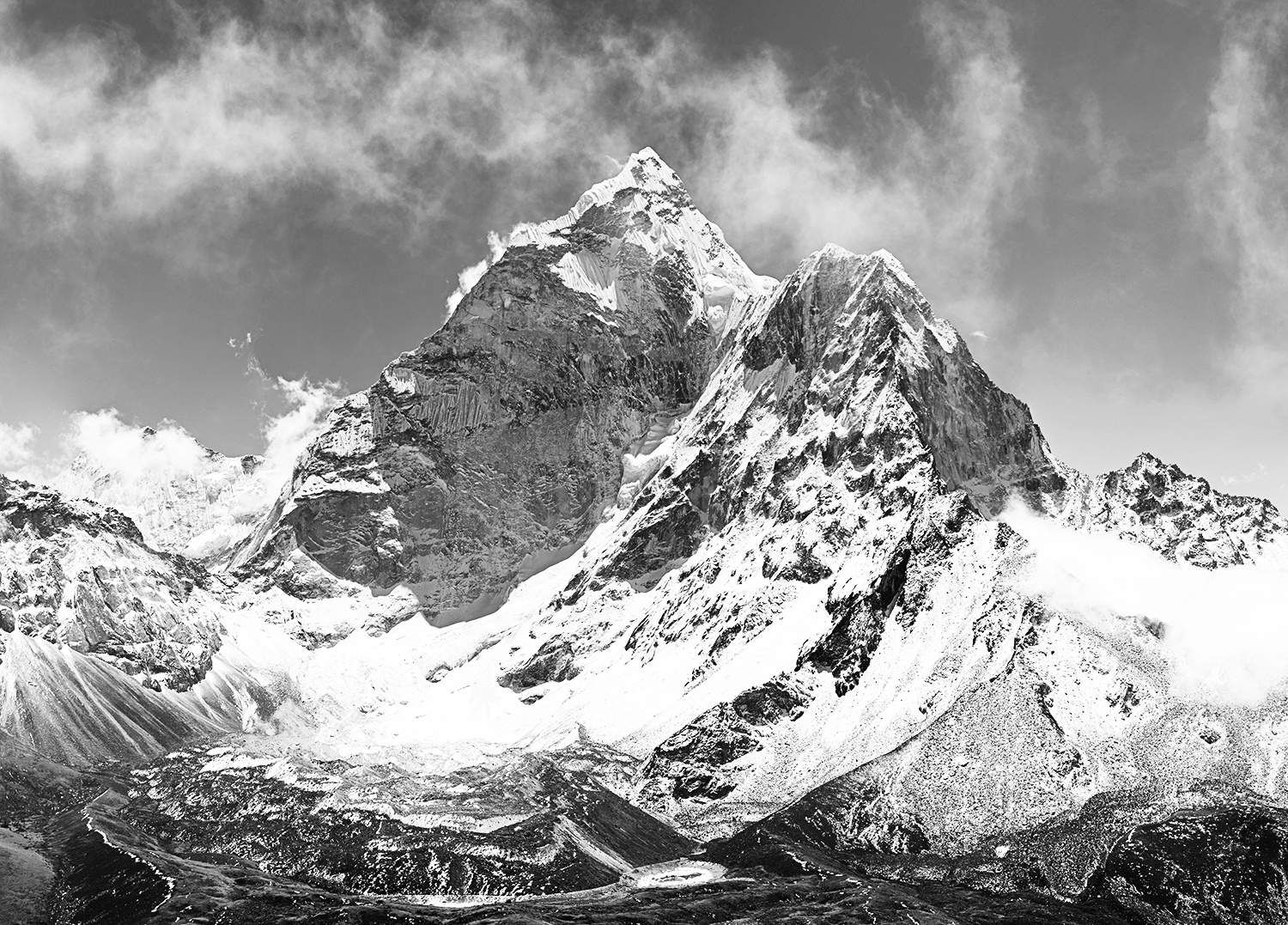 Black And White Mountains Wall Mural Mountain Wallpaper White