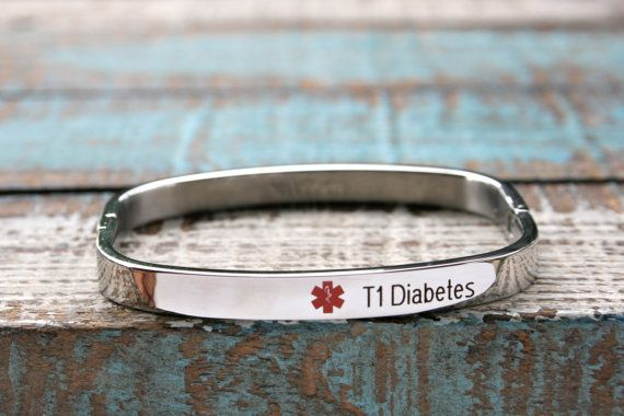 Medical Alert Bangle Bracelet Stainless Jewelry Engraved Id Engraving Included 40 00 Via Etsy