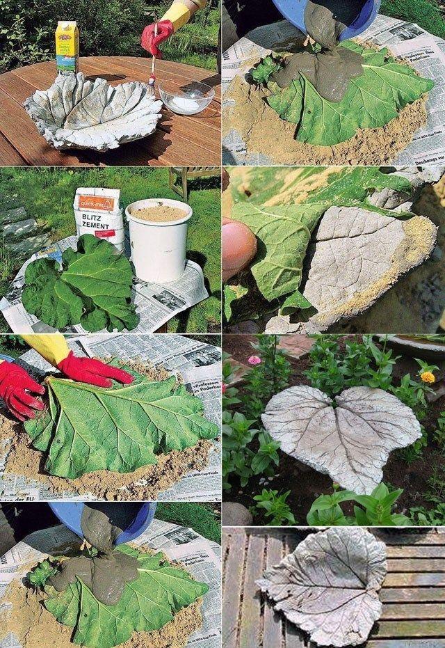 DIY Garden Decor Ideas Using Concrete,  #Artisanat #concrete #décor #DIY #Garden #Ideas
