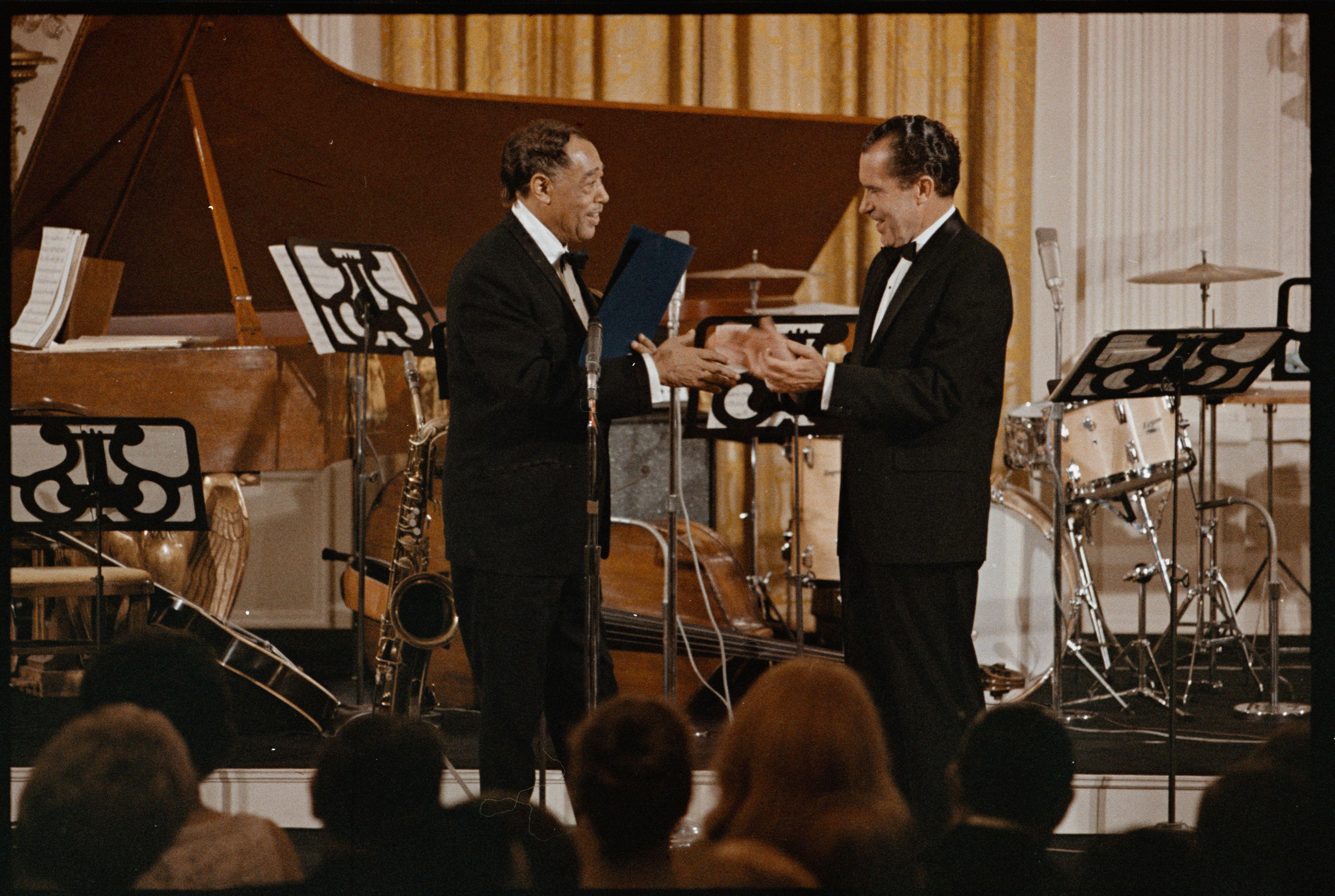 President Nixon Awards Duke Ellington The Presidential Medal Of Freedom