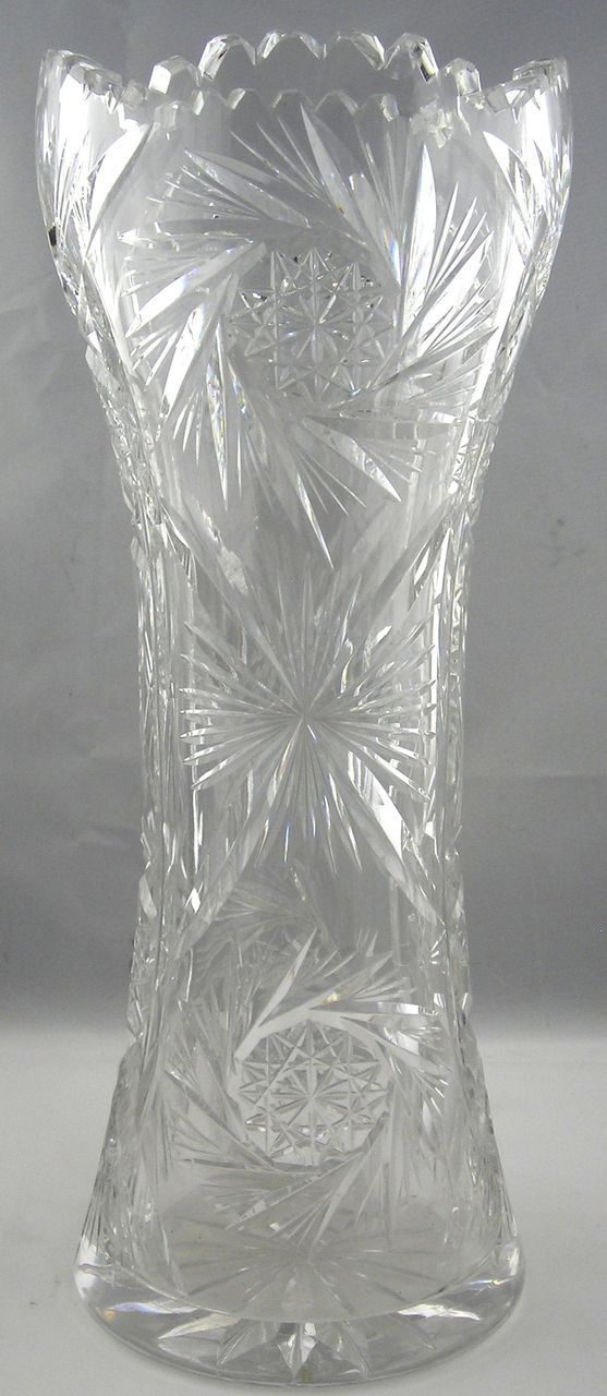 American Brilliant Period Cut Glass Vase Pretty Things For The