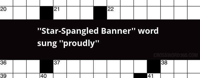 Star Spangled Banner Word Sung Proudly Crossword Clue In 2020 Greek Alphabet Lettering Crossword Puzzle