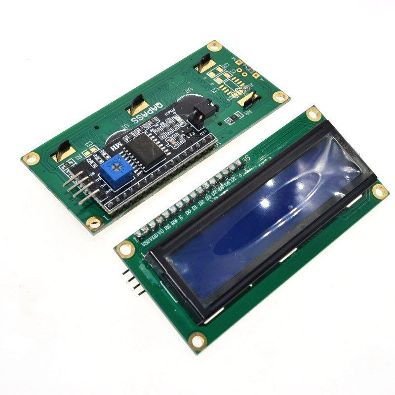 1 Pz Modulo Lcd Schermo Blu Iic I2c 1602 Per Uno R3 Mega2560