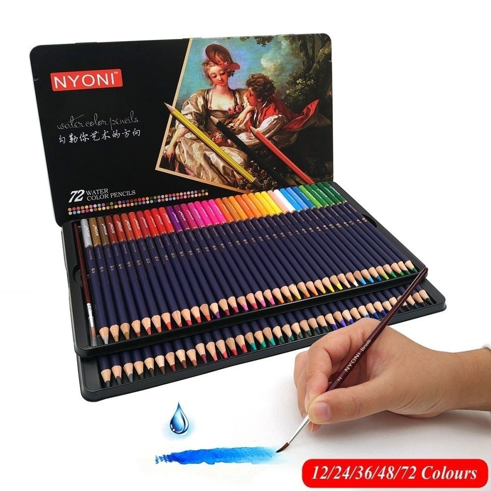 Chenyu 72 Water Colored Pencil S Premium Soft Core Lapis De Cor