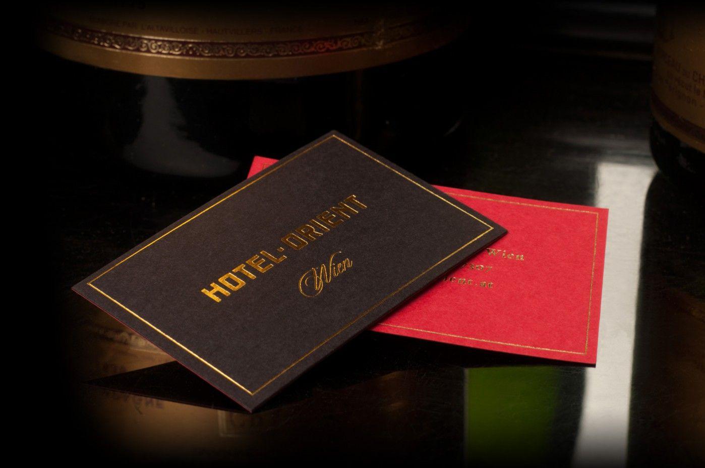 Visitenkarten Hotel Orient Visitenkarten Design Hotel