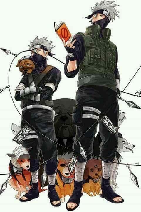 Kakashi Hatake And His Dogs Wallpaper Anime Naruto