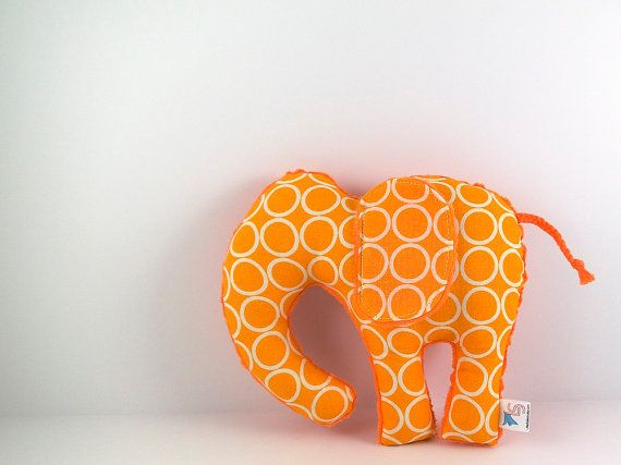 Elephant Plush Toy Handmade Stuffed Animal by LittleSidekick, $18.00
