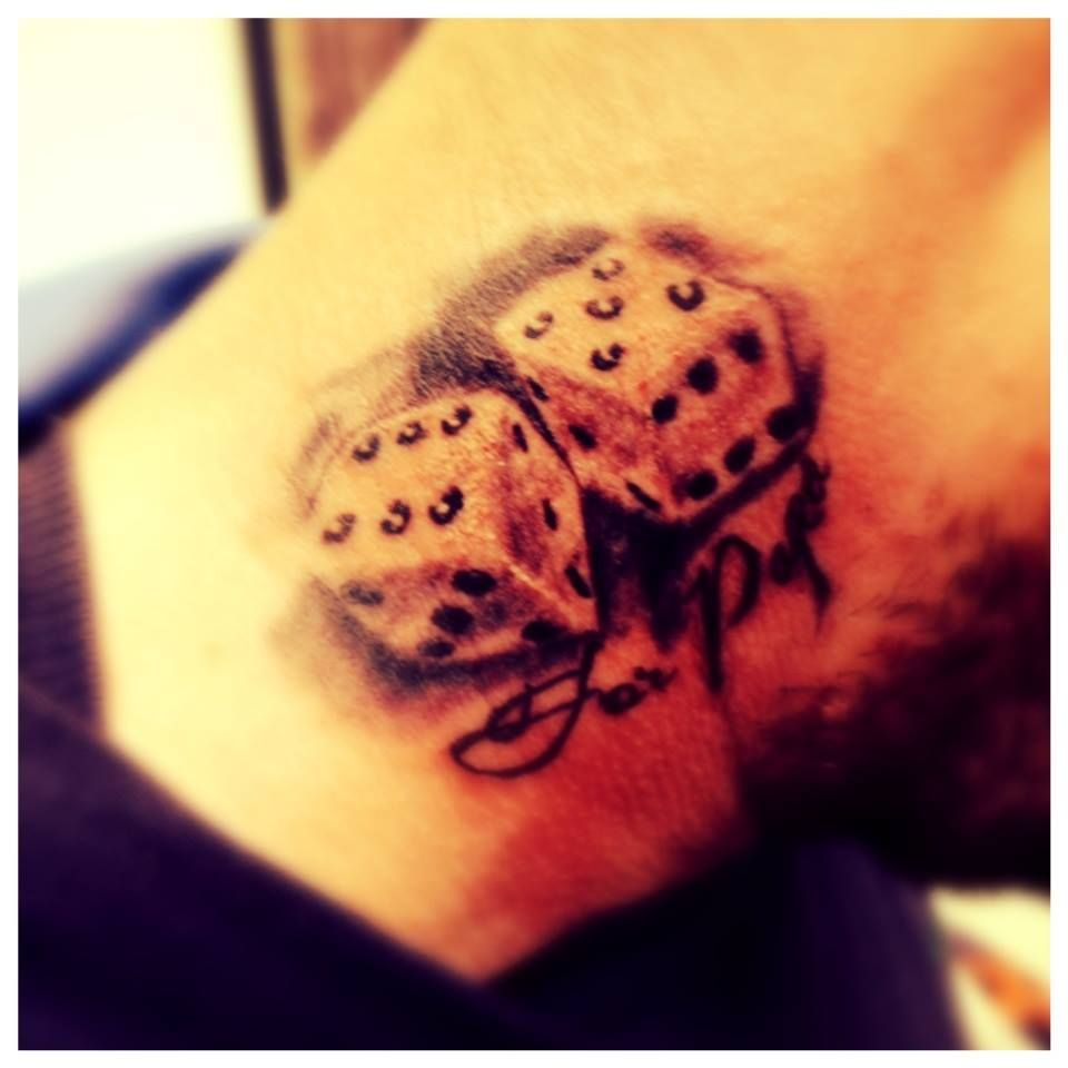 Dice tattoo Dice tattoo, Tattoo work, Tattoos