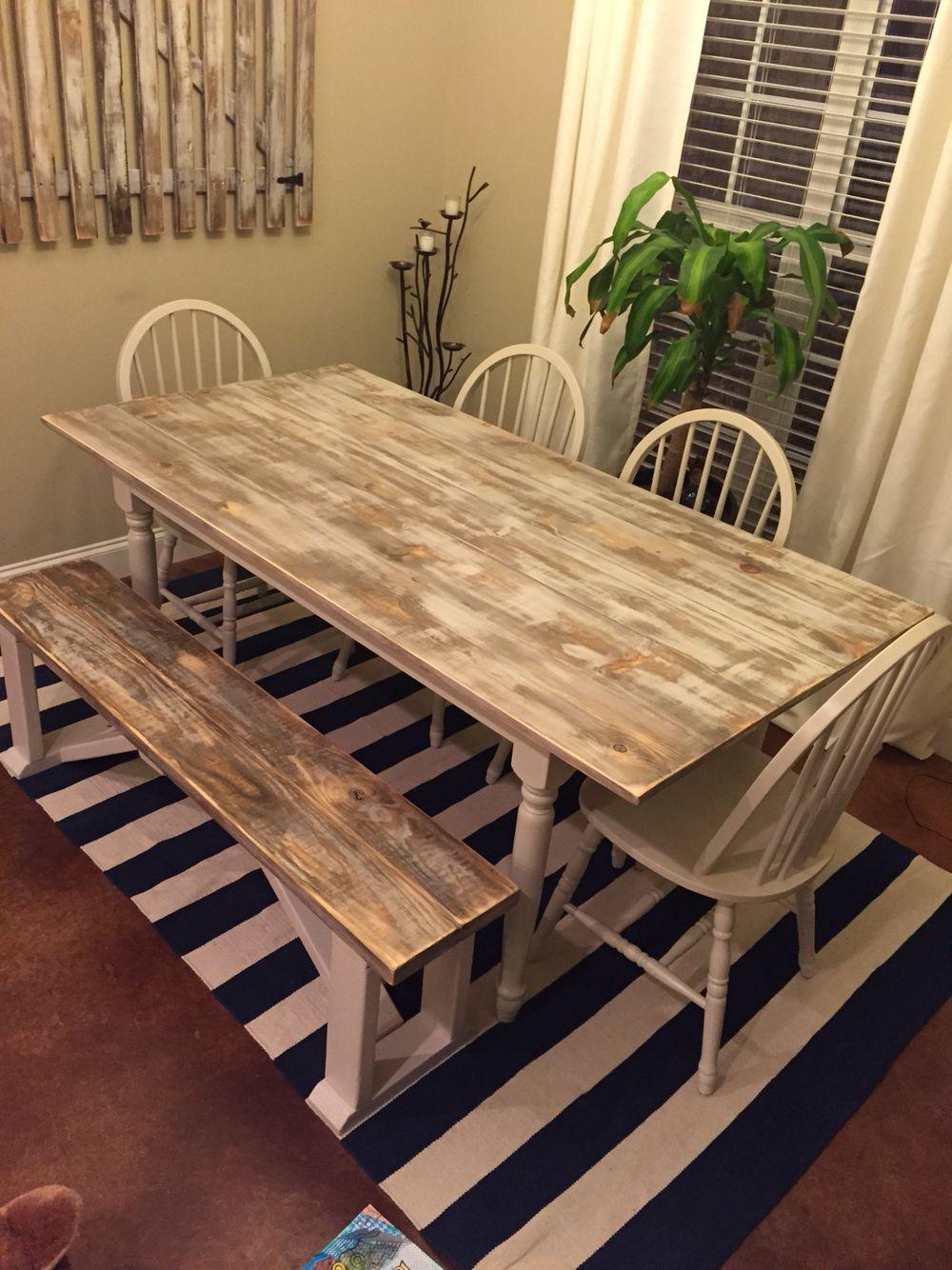 diy farmhouse table with white wash finish pediment by sherwin williams diy farmhouse table on farmhouse kitchen table diy id=36055