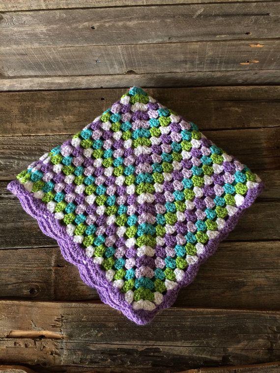 Crochet Granny Square Blanket Afghan Crochet Blanket Baby Blanket ...