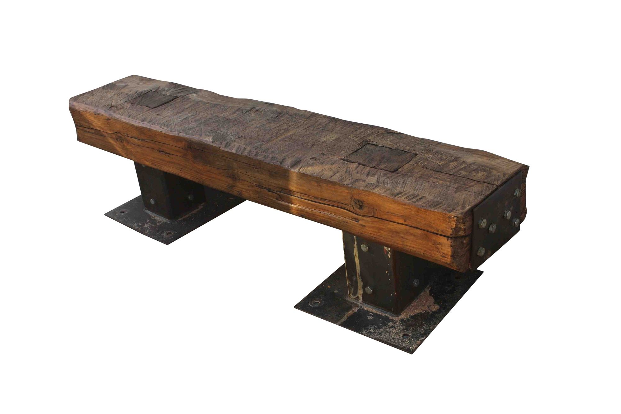 Outdoor Wood Bench Part - 46: Rustic Wood Outdoor Bench