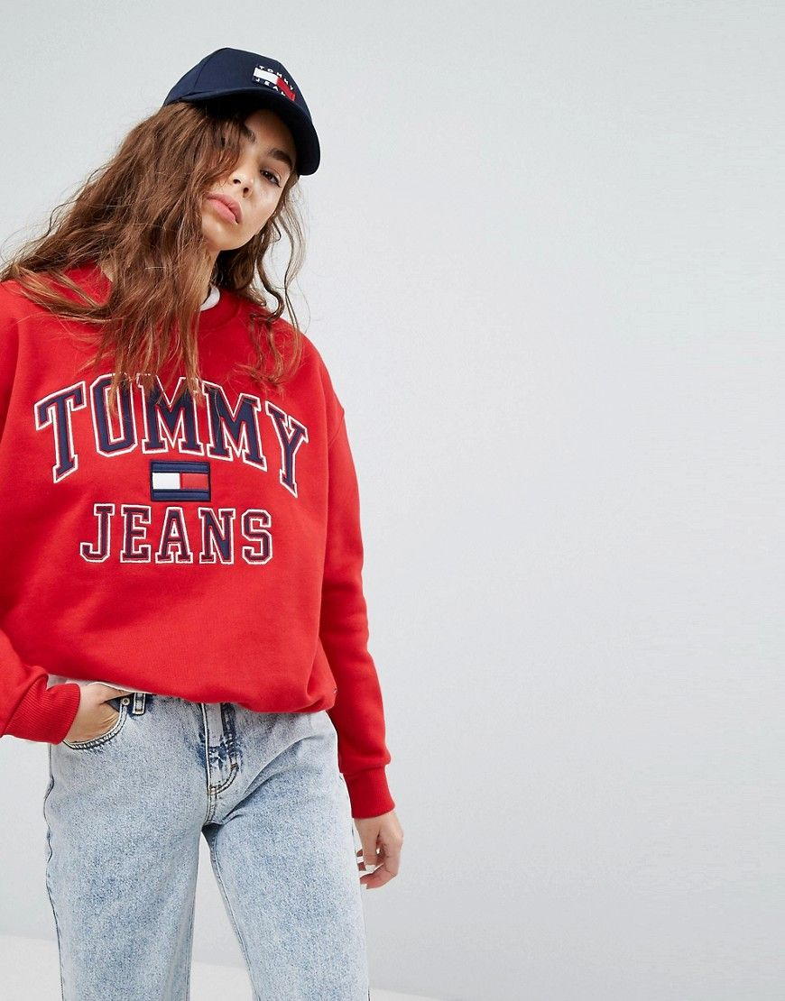 c64f41503 Tommy Jeans 90s Capsule Logo Sweatshirt | Fashionista at heart ...