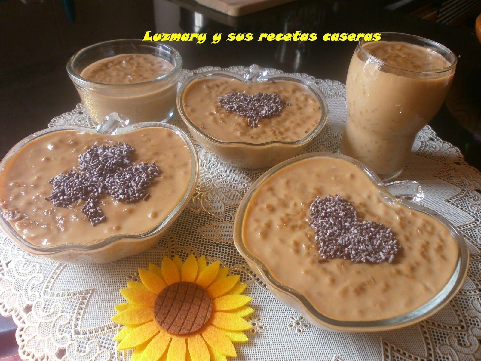 Luzmary Y Sus Recetas Caseras Arroz Con Leche Al Cafe Vanesa