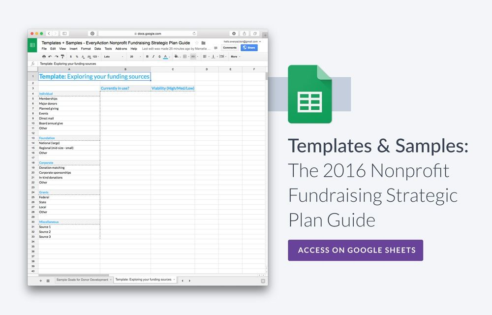 Research, tips, and templates to build a great fundraising strategic