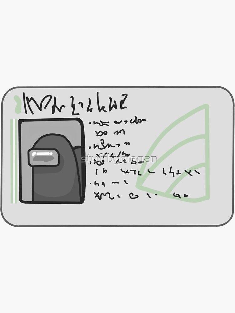 Among Us Swipe Card Sticker By Stuffbymegan Swipe Card Drawing Ideas List Lettering