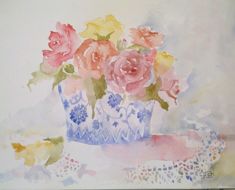 Mis acuarelas de rosas