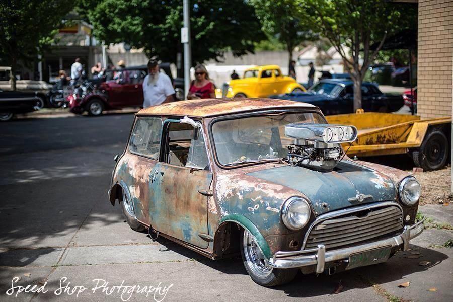 Morris Cooper Mini Cooper custom drag car named \'Critter\'. This ...