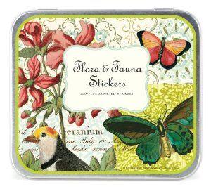 Amazon.com: Cavallini Decorative Stickers Flora & Fauna, Assorted