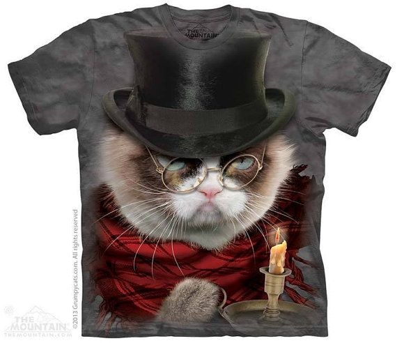 woman's or men's plus size t-shirt cat scrooge by LIBERTYHORSE