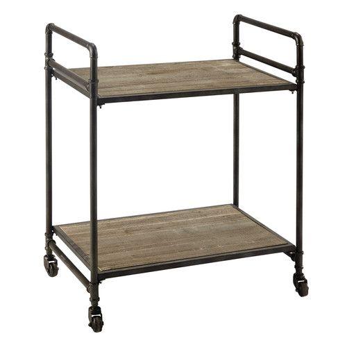 Rollwagen aus Metall und Holz, B 64 cm | Metall, Holz & Beton ...