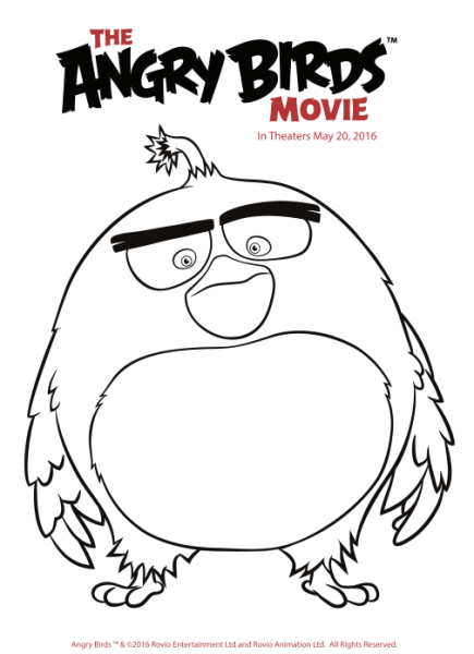 Angry Bird Colouring Sheets
