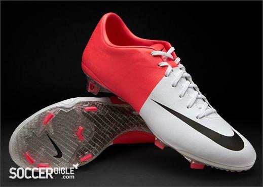 Nike Mercurial Vapor VIII Football Boots – White/Red http://www.