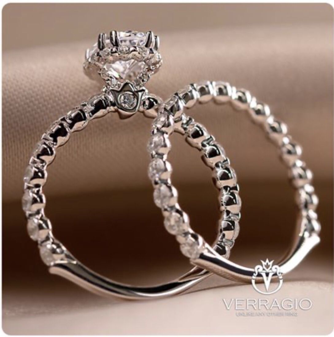 Verragio Renaissance 984 Hov And Wedding Band 984w Yes Please In 2020 Verragio Engagement Rings Verragio Engagement Verragio