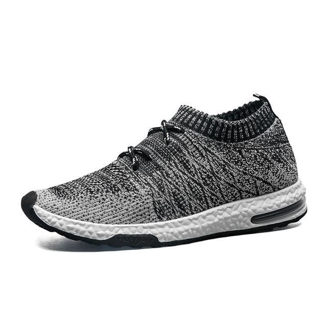807d555e0 Buy 2018 Fashion Men Shoes Casual Weaving Fly Mesh Breathable Light Soft  Black Slip on Mens