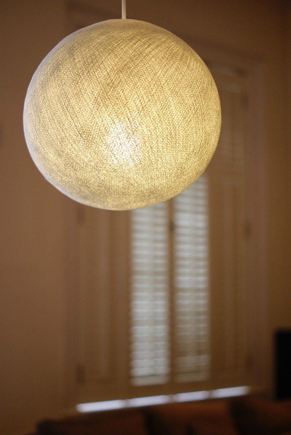 11 99 White Cotton Ball Lampshade Pendant Large