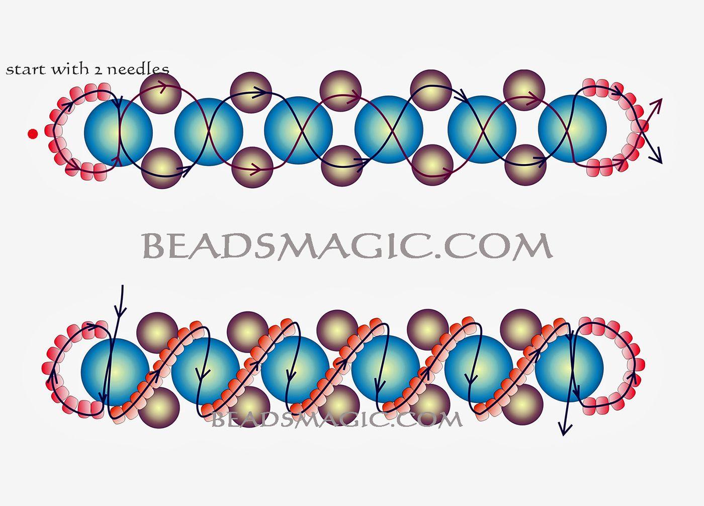 Free Pattern For Beaded Bracelet Pamela U Need Seed Beads 11 X2f 0 Pearl Beads 8 1 Beaded Bracelet Patterns Beaded Jewelry Patterns Beaded Bracelets Tutorial