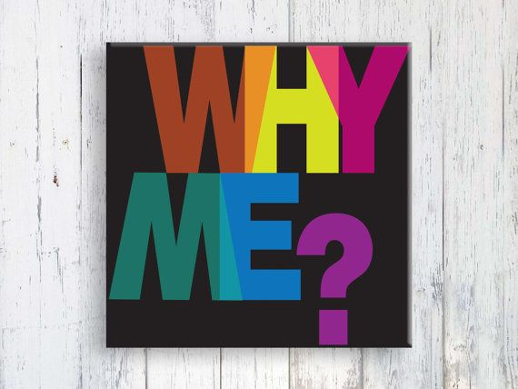 Why Me? di JazzFeathers su Etsy