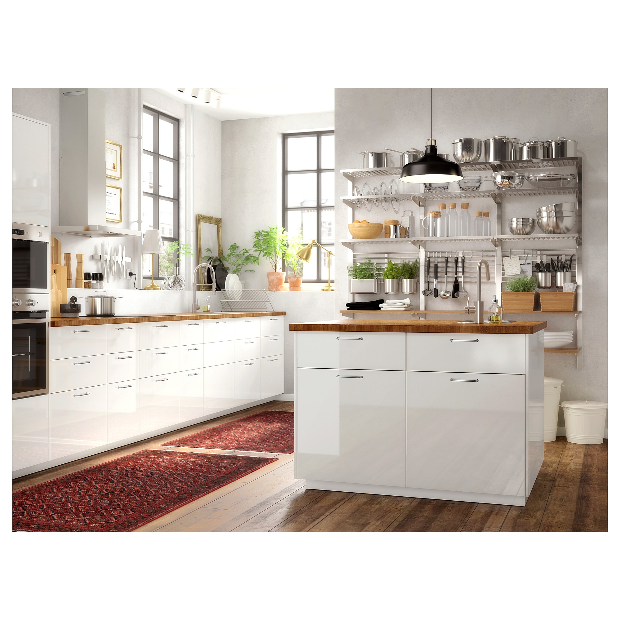 Ikea Kitchen Cabinet Refacing: KUNGSFORS Suspension Rail With Shelf/wll Grid