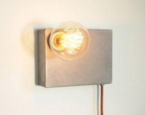 ProtoType Lámpara de hormigón y LEDs de diseño por LuminariaShop