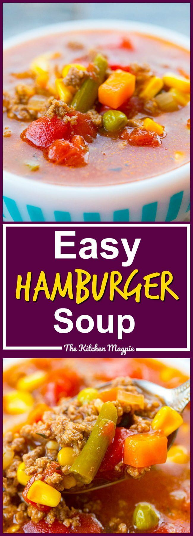 This easy to make and classic hamburger soup has been a dinnertime staple for de...  - Soup -