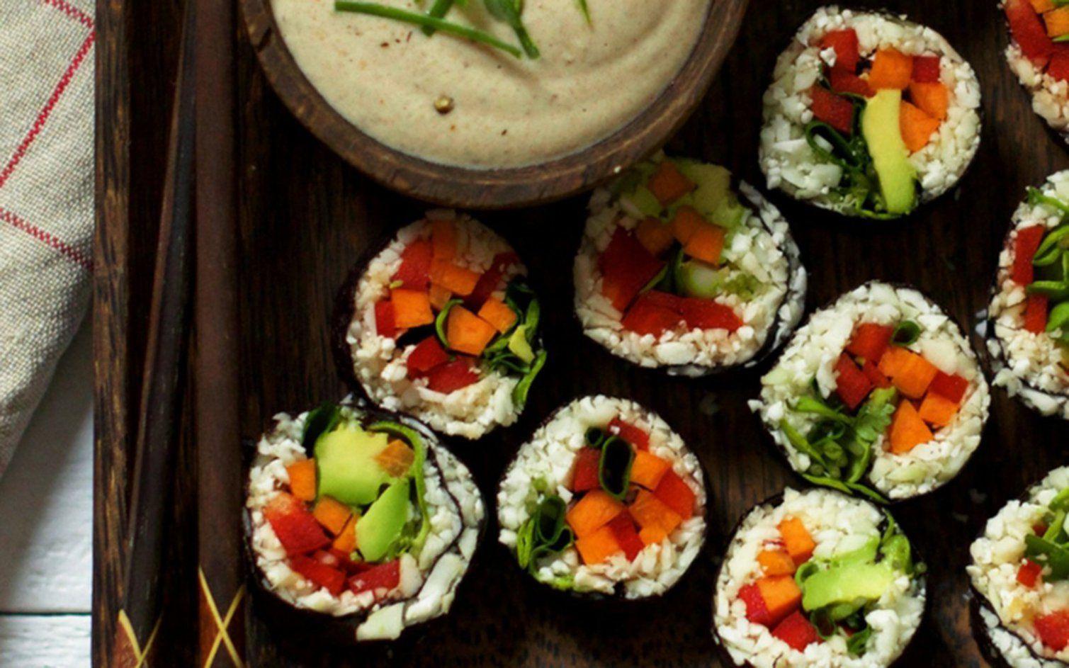 Cauliflower Rice Sushi [Vegan, Raw, GlutenFree] One