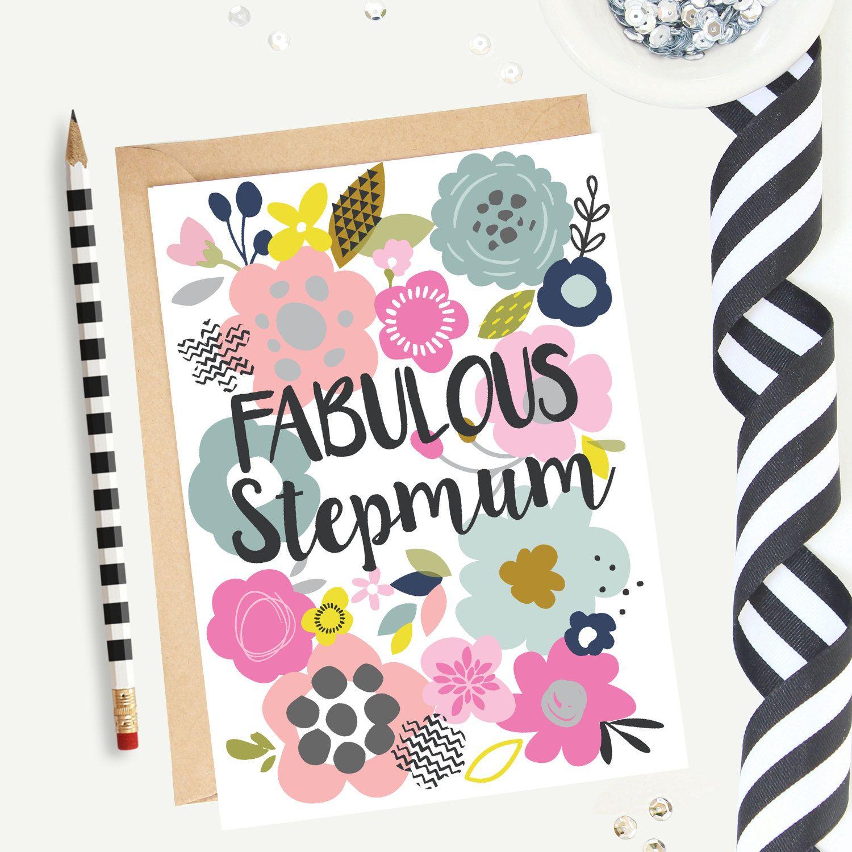 Mothers Day Cardfabulous Stepmumbirthday Cardstepmum Card