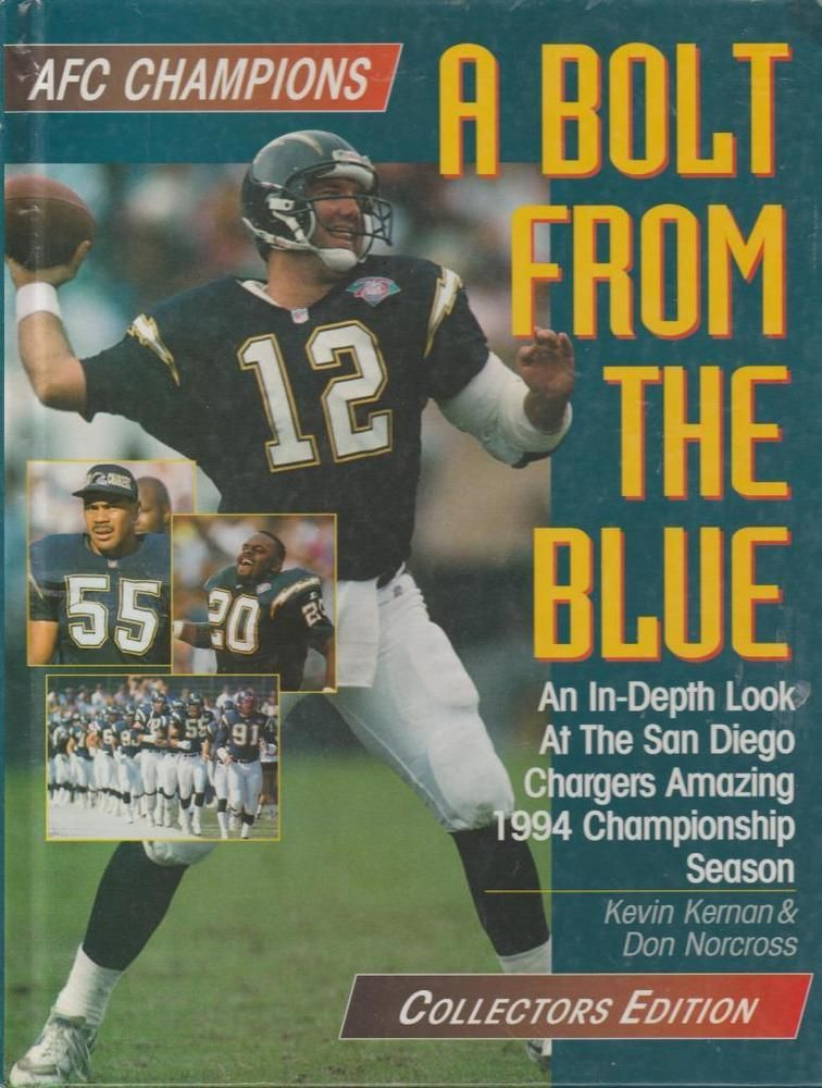 San Diego Chargers AFC Football Champion 1994 Season A