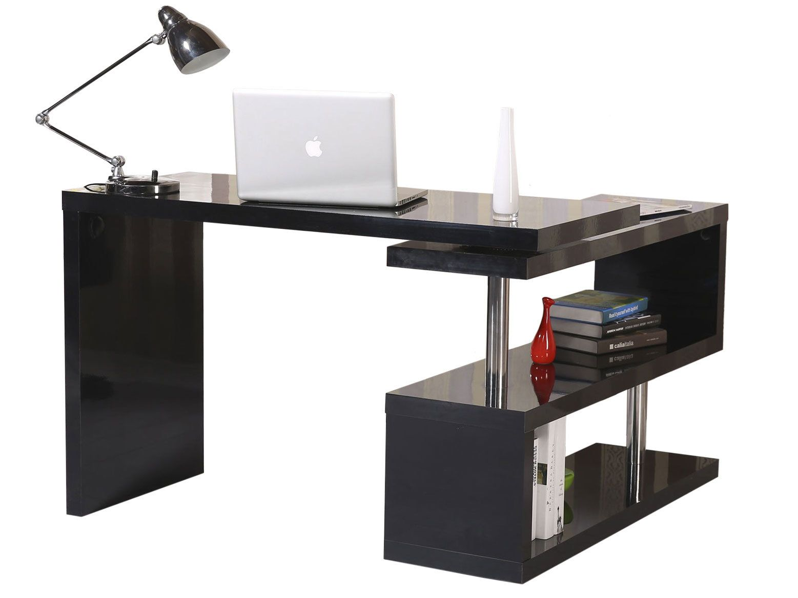 Table Bureau Noir : Table bureau table informatique adjacente pivotante1 360°avec