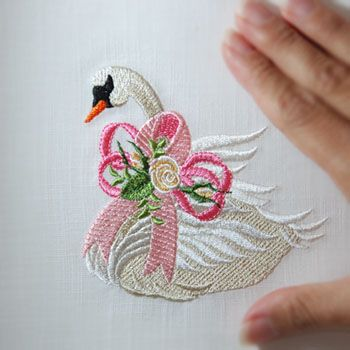 Heirloom Cancer Awareness Swan: Sonia Showalter
