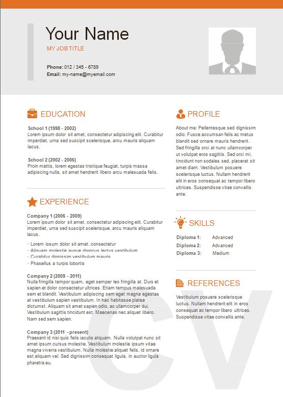 2 Column Resume Format Resume Templates Resume Template Word Resume Templates Resume Template