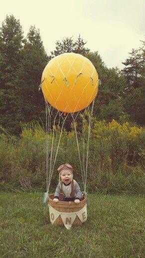 Love This Hot Air Balloon Photo Prop One Year Photos The Big