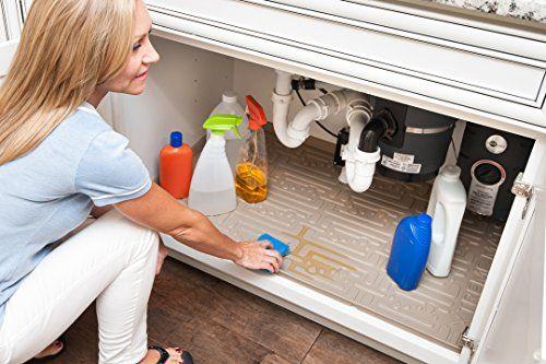Xtreme Mats Under Sink Kitchen Cabinet Mat 30 3 8 X 21 1