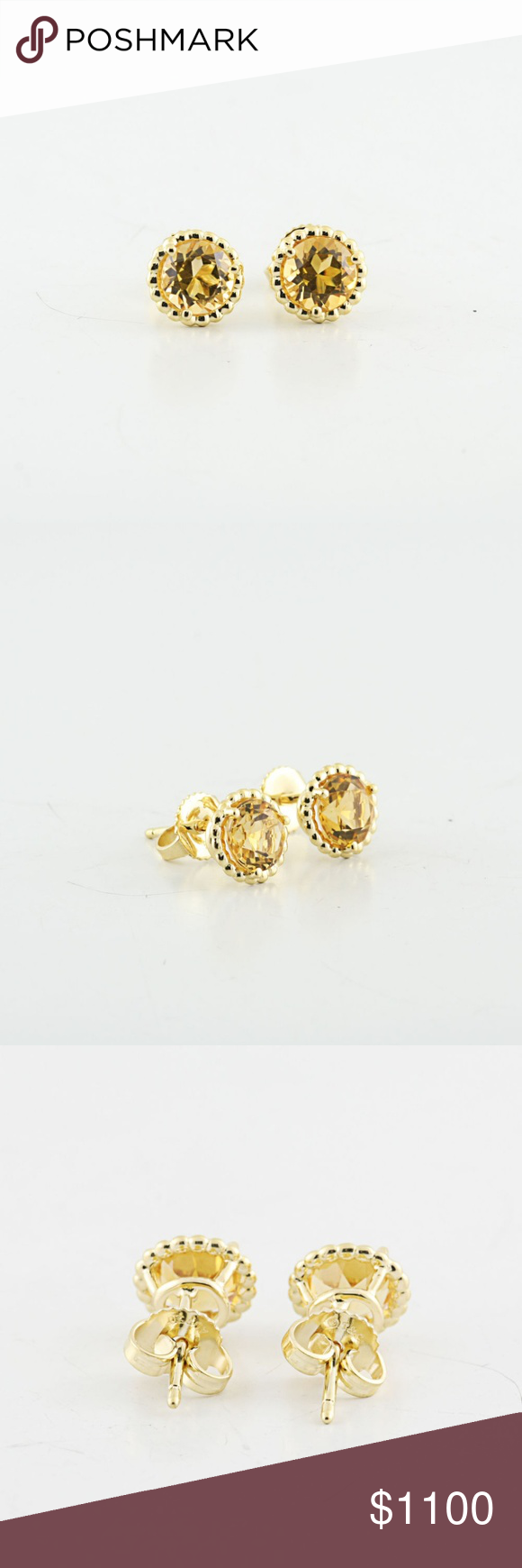 c7ad7bc93 Tiffany & Co 18K Yellow Gold Citrine Earrings Authentic Tiffany & Co 18K  Yellow Gold Citrine Gemstone Earring Studs. Shipped with USPS First Class  Package.