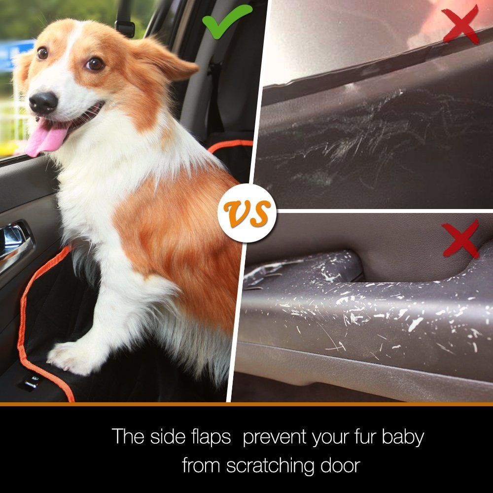 Amazon IBuddy Dog Seat Cover For Back Of Cars Trucks SUV Waterproof Hammock With Mess Window Side Flaps And Belt