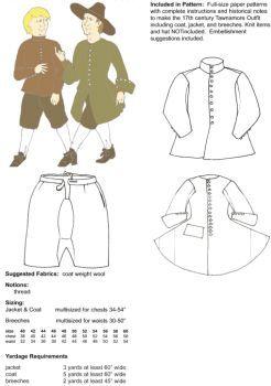 17th century irish tawnamore outfit pattern halloween pinterest