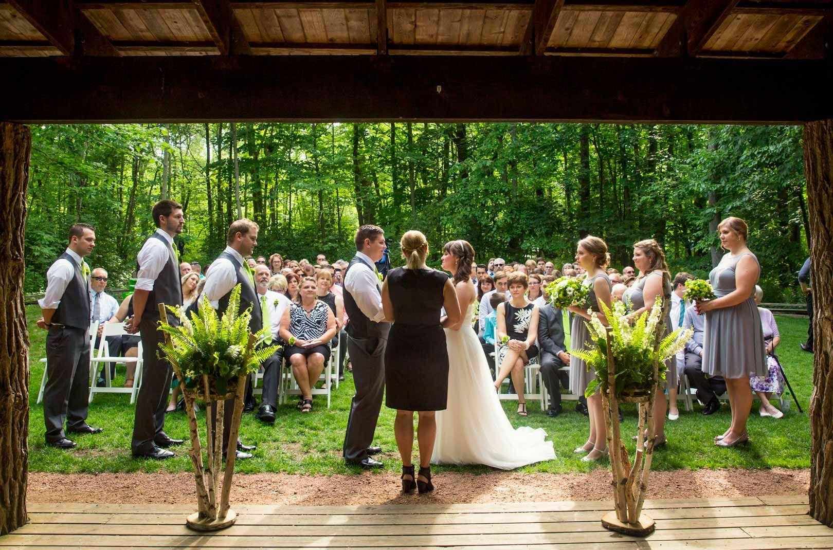 Summer Forest Wedding At The Schlitz Audubon Nature Center