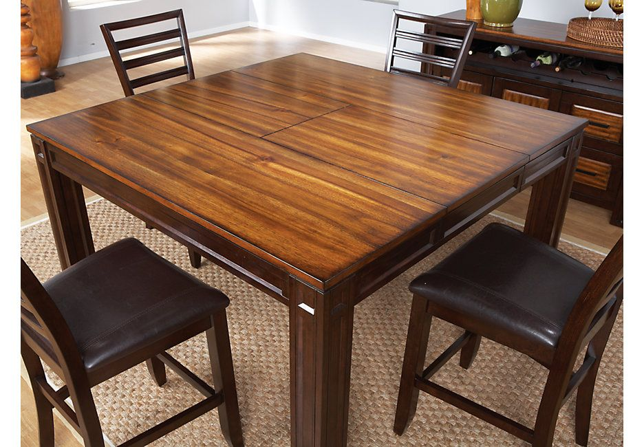 Adelson Chocolate Square Counter Height Dining Table Dining Tables Dark Wood Dining Table In Kitchen Counter Height Dining Table Dining